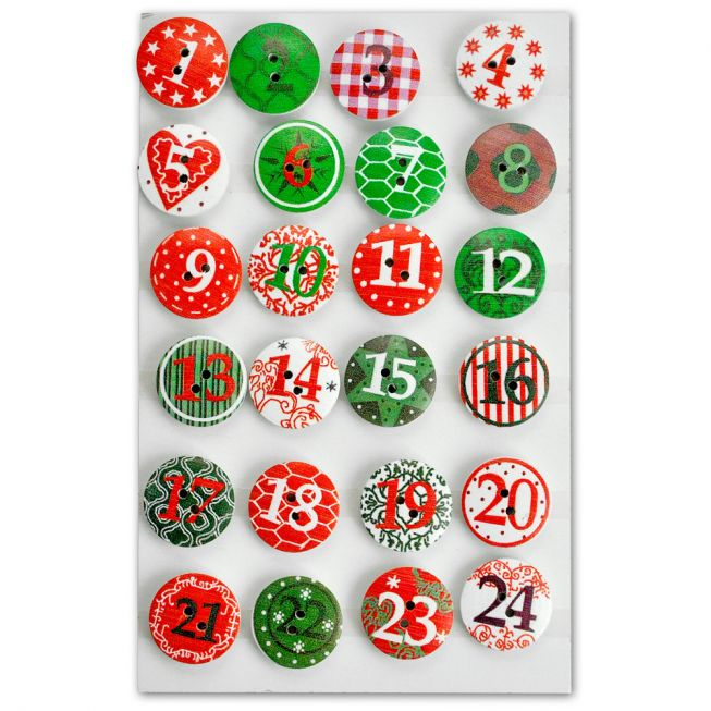 Adventskalender knapper