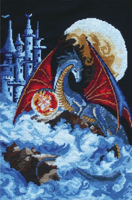 Embroidery kit - Dragon of the blue planet