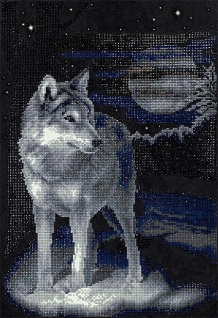 Diamond painting - Wolf