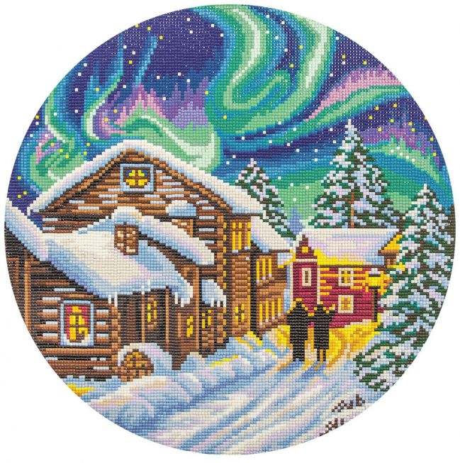 Diamond painting - Wintery night