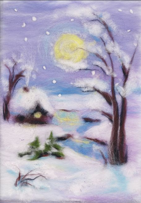 Painting wool kit - wintery night