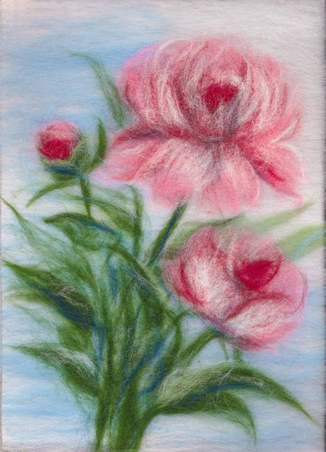 Painting wool kit - gentlle peonies