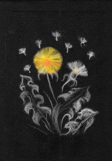 Woola in black - Dandelions