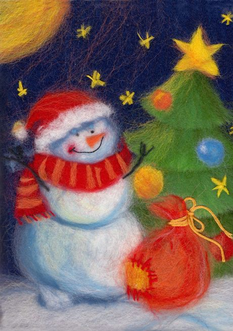 Painting wool kit - Festive snowman
