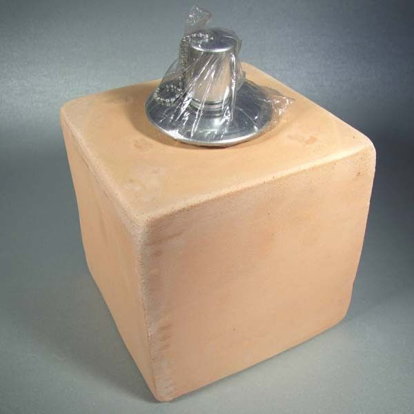 Terra-cotta oil lamp 11x11x11 cm