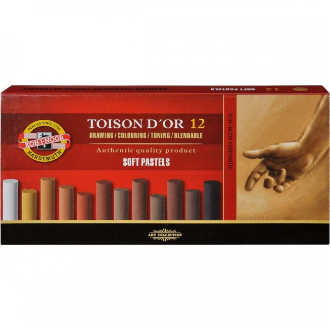Toison d`or 12 brown soft pastels round